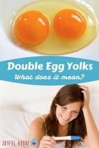 Double Egg Yolks - What does it mean? Am I pregnant?