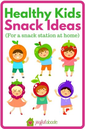 "Snack ideas for a healthy kids snack station at home - make one of these and never worry about your kids saying ""I'm hungry!"" again - there's always a good choice to eat."