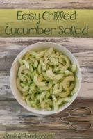 Easy Chilled Cucumber Salad 1