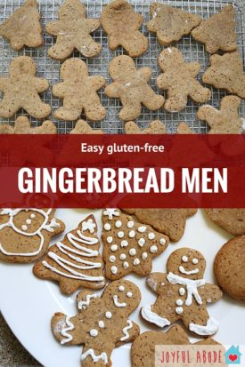 Grain-free, Gluten-free, Paleo Gingerbread roll-out Cut-out cookies