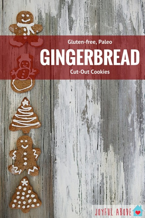 Grain-free, Gluten-free, Paleo Gingerbread Cut-Out Cookies