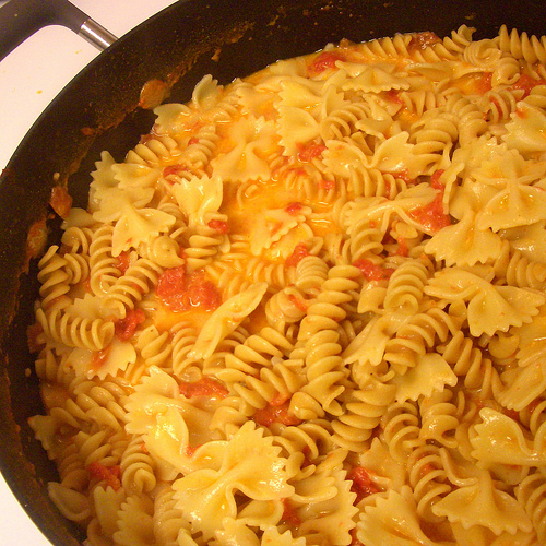 pasta with tomato/cream/white wine sauce
