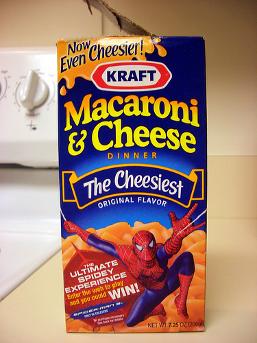 box of macaroni and cheese
