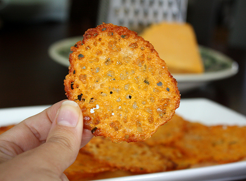 Low-Carb Snacks : Homemade Baked Cheese Crisps Recipe