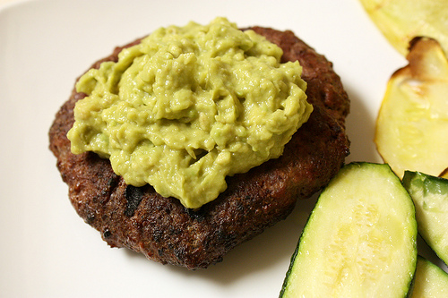 Guacamole Burger with squash