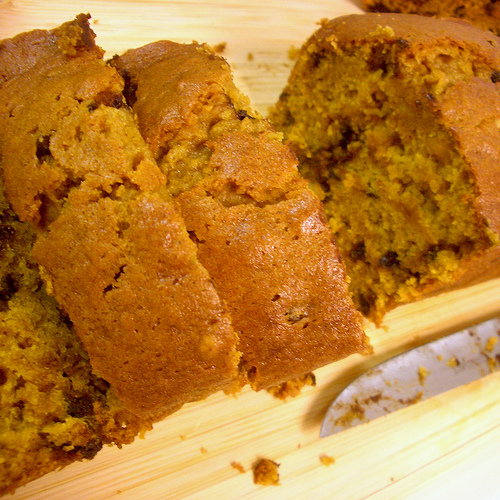 Chocolate Chip Pumpkin Nut Bread