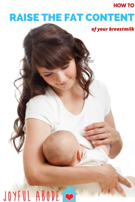 How to raise the fat content of your breast milk