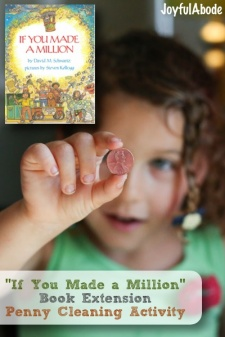 """If You Made a Million"" Activity – Penny Cleaning Montessori Work"