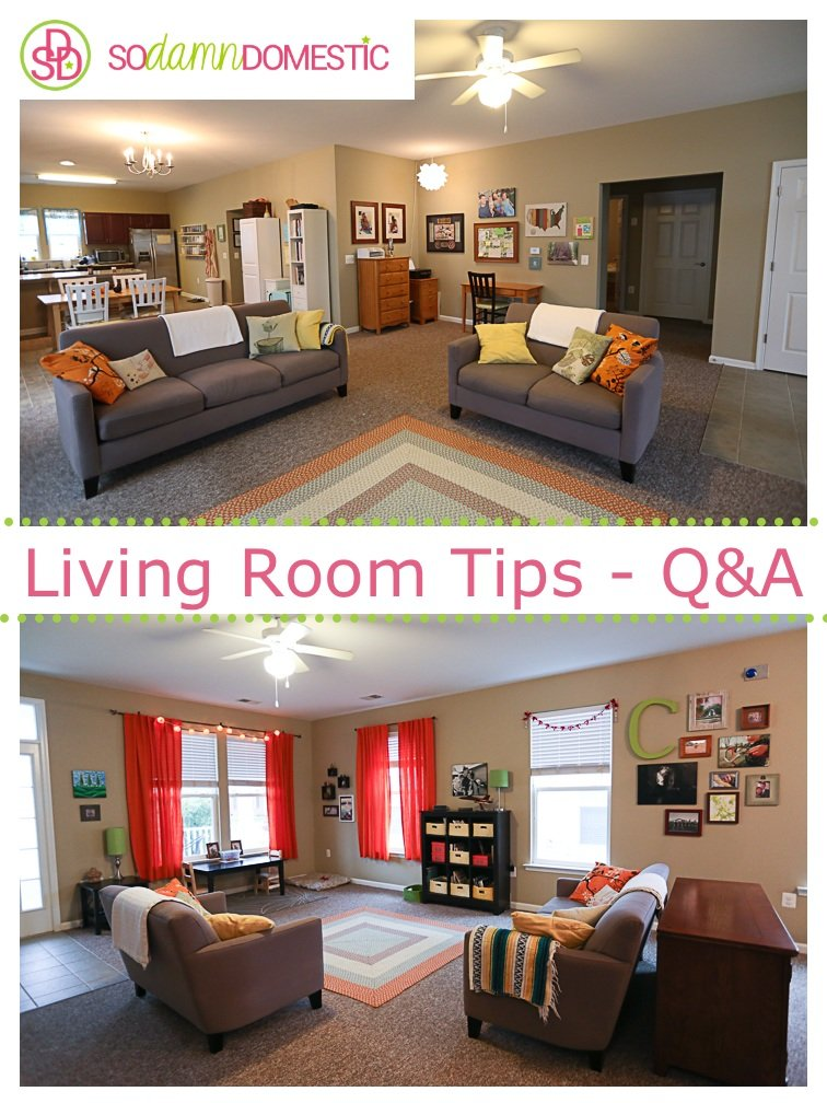 Living room furniture arrangement q a Living room furniture b q