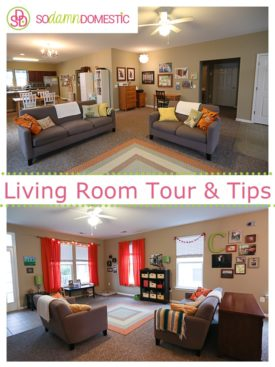 Living room tour & Tips for staying organized, even with kids.