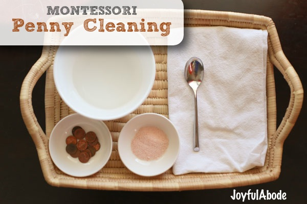 Montessori Penny Cleaning Activity