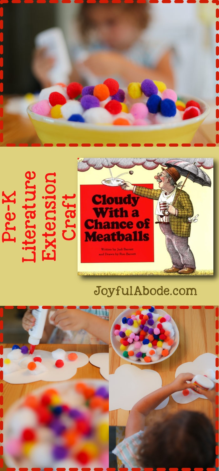 "Pre-K ""Cloudy With a Chance of Meatballs"" Craft Activity"