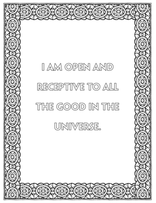 Adult coloring book full of affirmations. So beautiful! I would feel amazing coloring these.