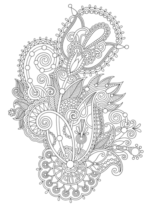 beautiful henna designs to color in this adult coloring book