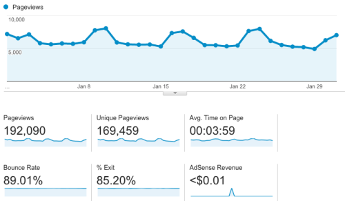 How I made over $2000 from my blog in January