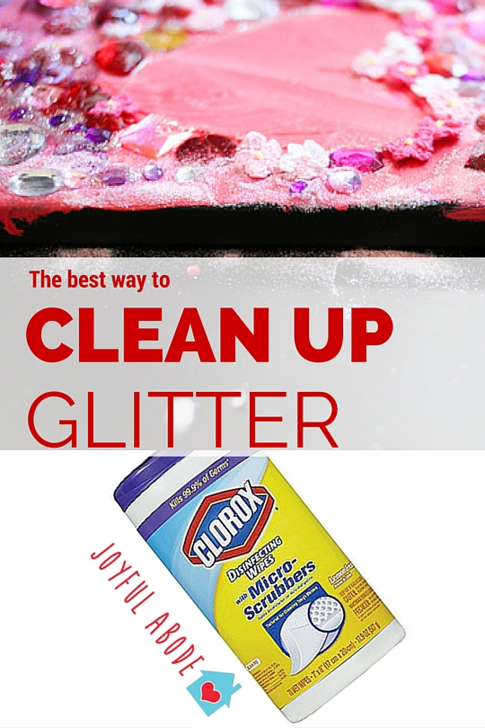 The hands-down best way to clean up glitter. No more craft herpes!