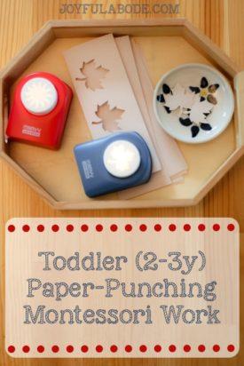 Montessori Toddler Paper Punching Activity
