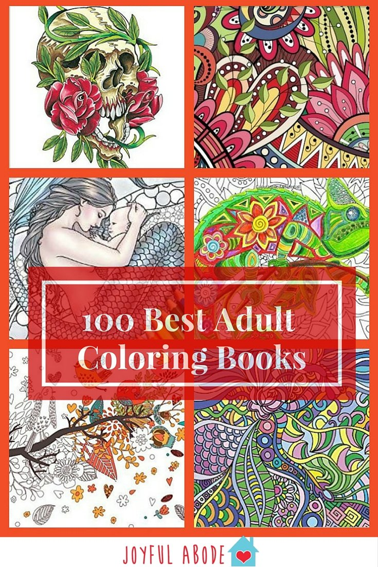 Adult Coloring Books Top 100 Joyful Abode