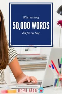 What writing 50,000 words did for my blog.