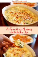 Are you looking for the very best artichoke dip recipe ever? This one blows every other artichoke dip out of the water.