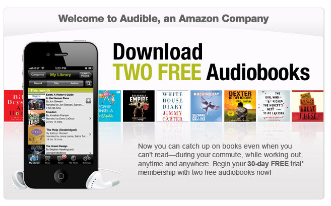 Get 2 free audio books with an Audible free trial