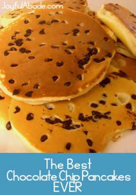 Want the best recipe for fluffy chocolate chip pancakes? Here it is!