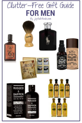 Looking for clutter-free gift ideas for men? Here's your ultimate clutter-free gift guide for the guys in your life. Perfect for Christmas gifts, Father's day, birthdays, and any other gift-giving holiday or occasion.