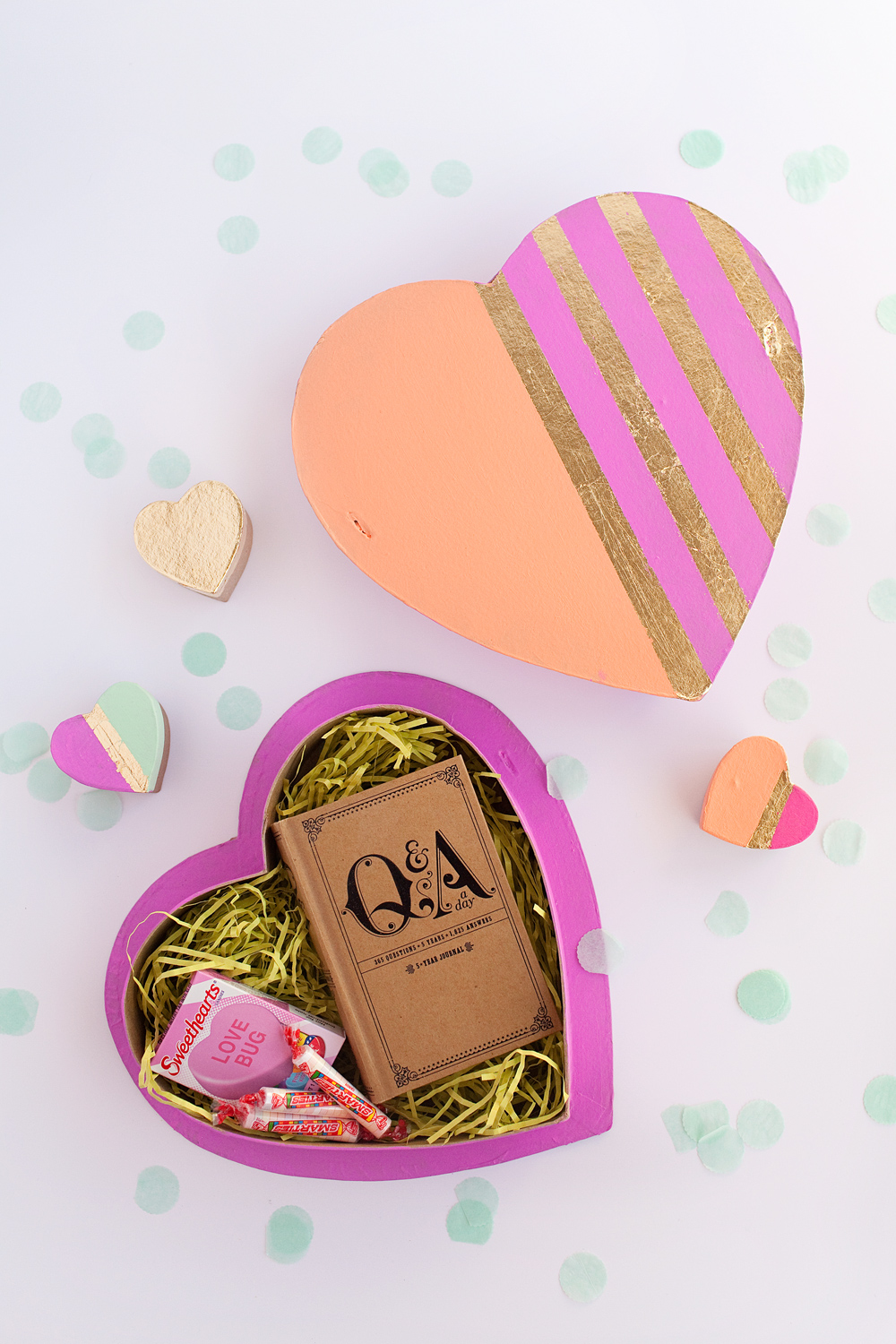 heart shaped diy valentine boxes