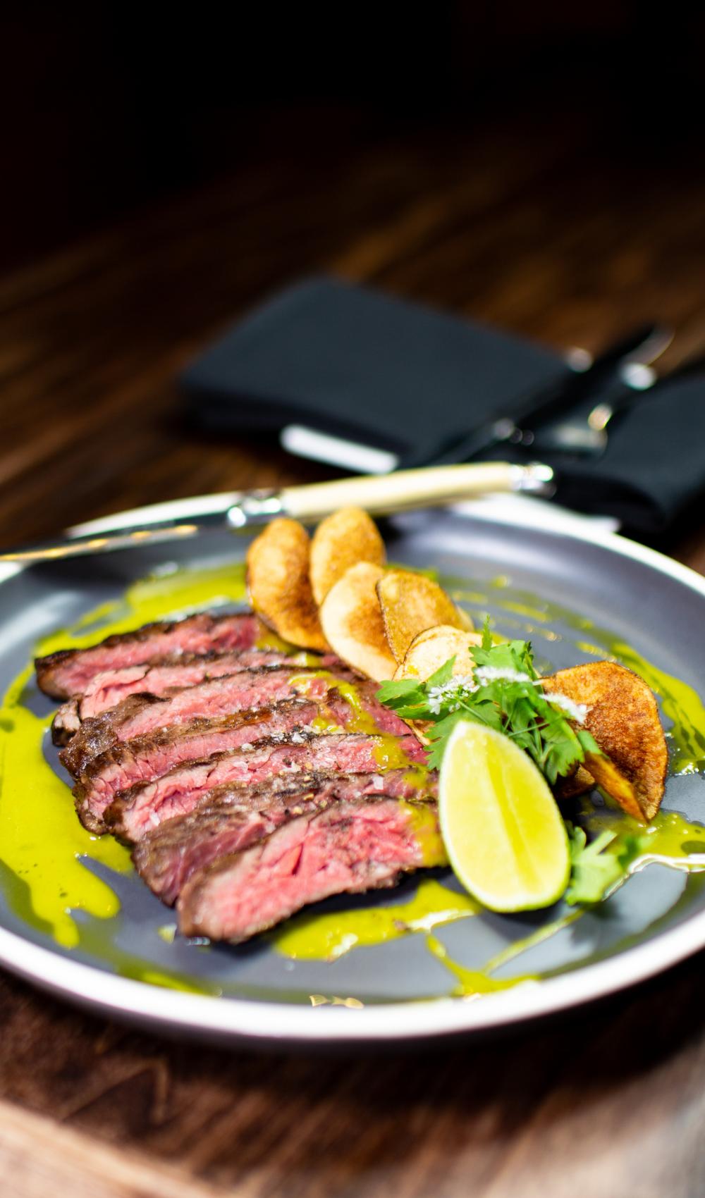 gourmet steak meal plated nicely