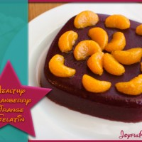 healthy cranberry orange gelatin dessert