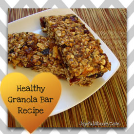homemade healthy granola bar recipe