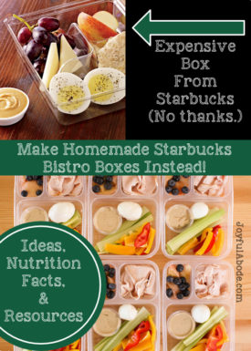 homemade starbucks bistro boxes
