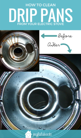 Drip pans on electric stoves can get really gross - here's how to clean your nasty drip pans, easily!