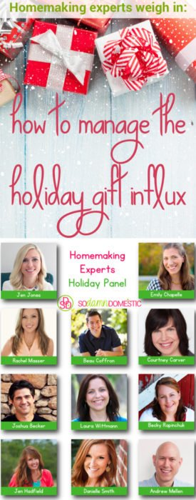 How to manage the holiday gift influx - homemaking experts weigh in