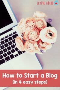 How to start a blog in 4 easy steps