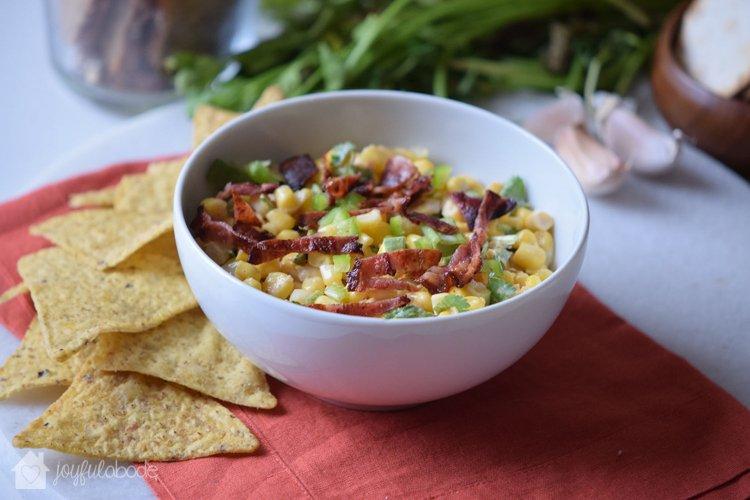jalapeno corn bacon salsa party dip recipe-4