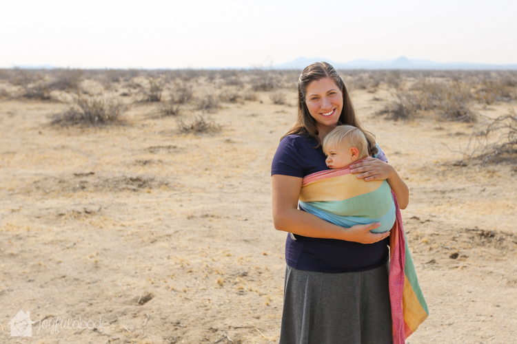 benefits of living in the desert - mother and son babywearing in wrap conversion ring sling-3