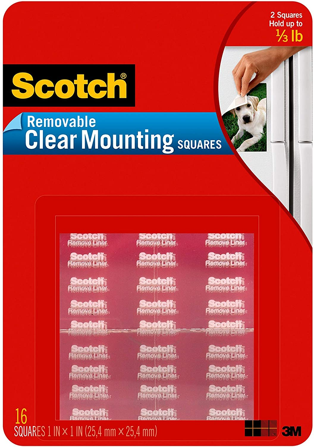 Removable Clear Mounting Squares