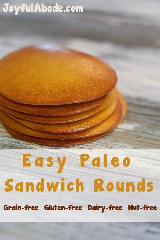 Easy paleo sandwich rounds - #grainfree #glutenfree #dairyfree #nutfree