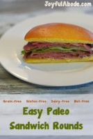 Easy paleo sandwich rounds - #grainfree #glutenfree #dairyfree #nutfree