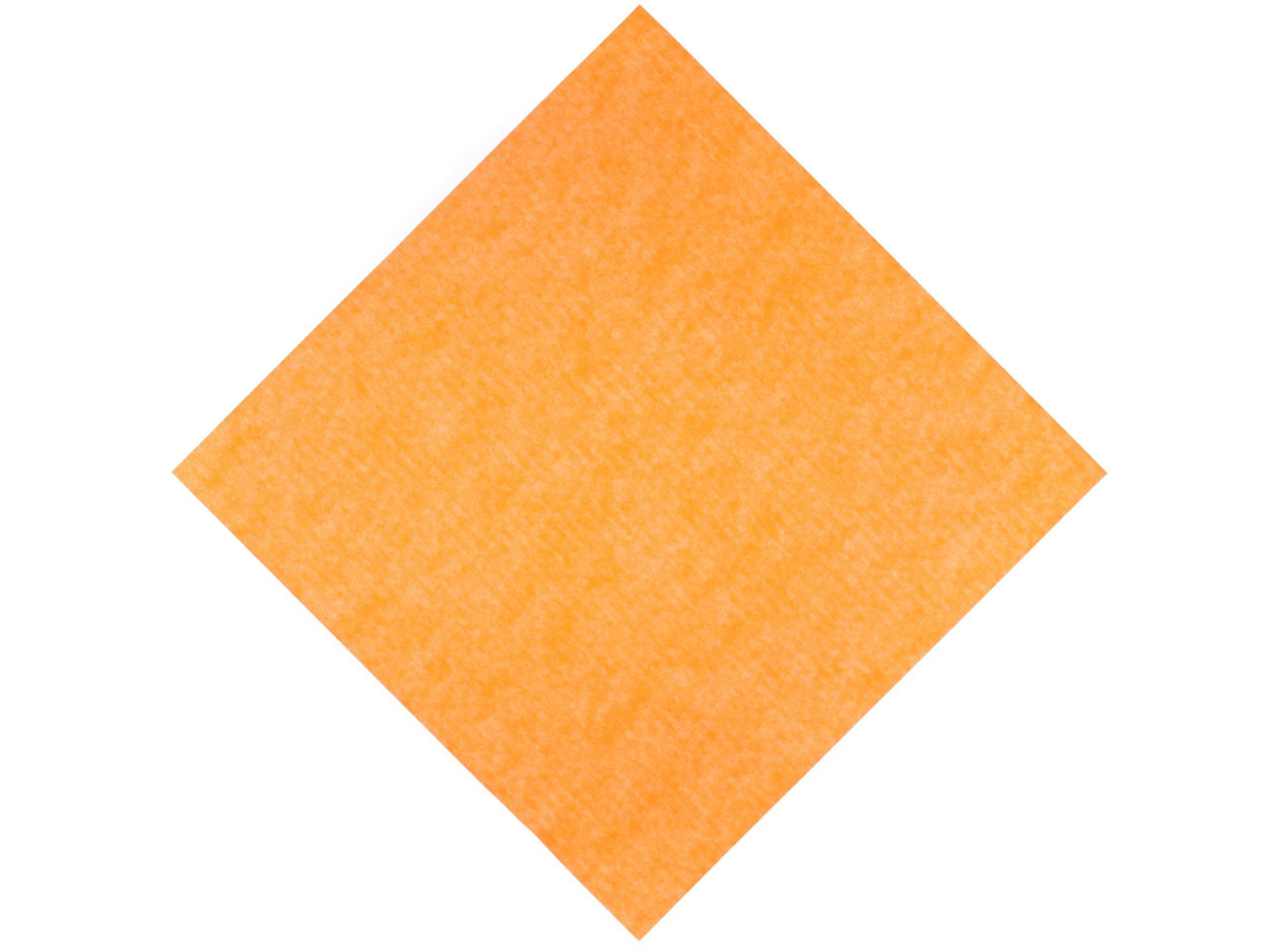 square of orange kite paper