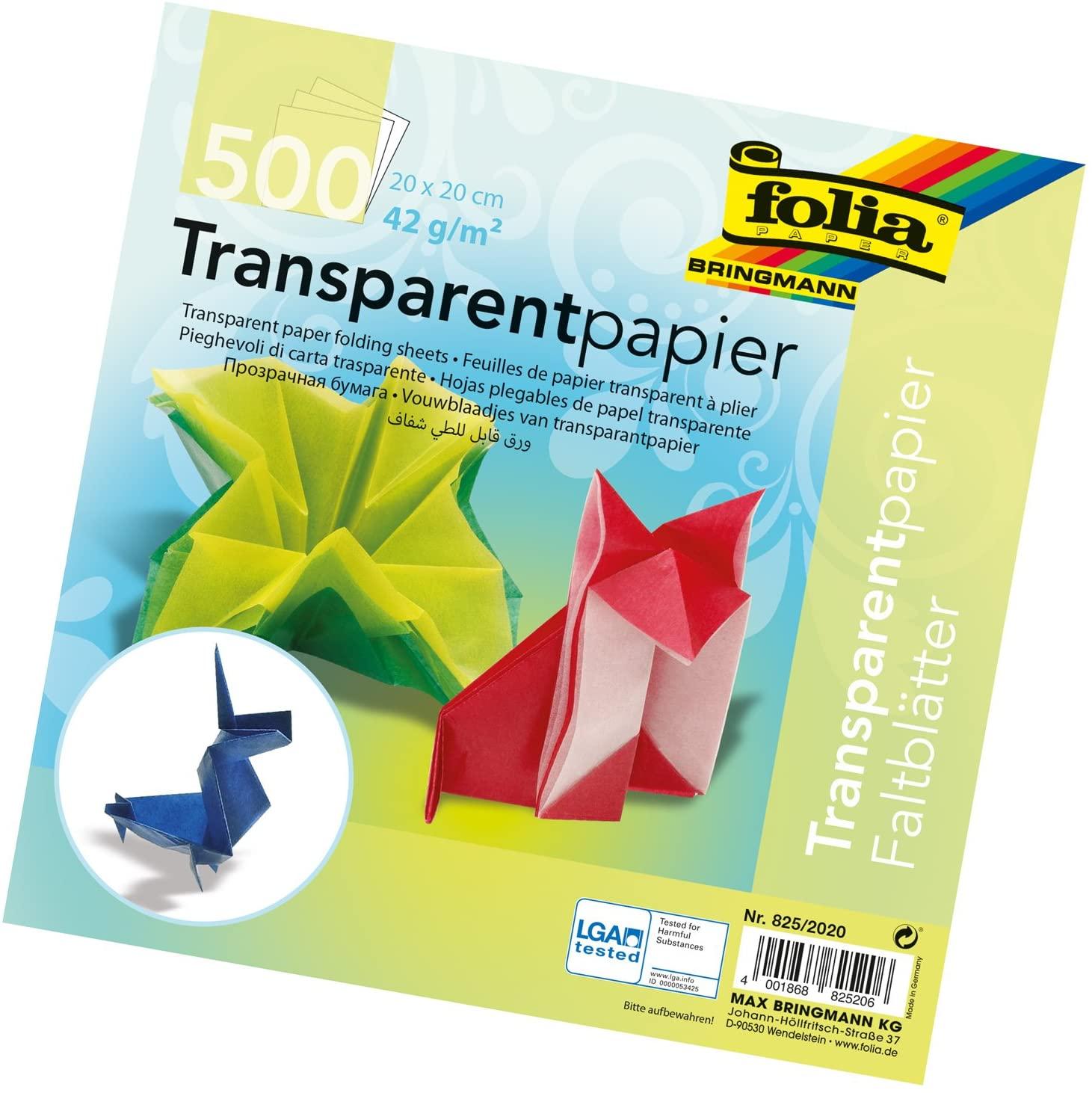 Translucent Origami Paper