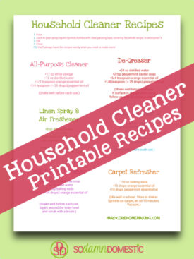 printable household cleaner recipes