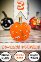 3 No-Carve Pumpkin ideas for Halloween