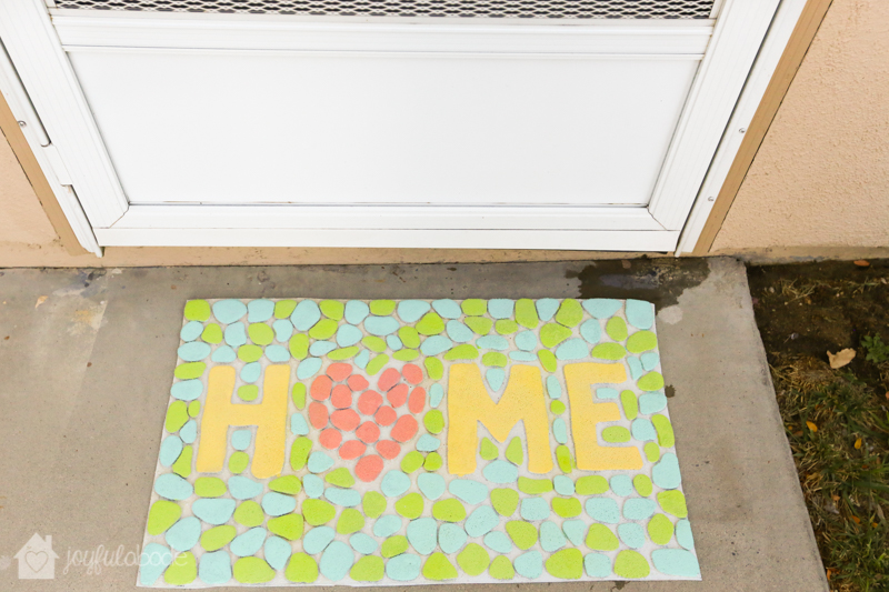 my newly painted welcome mat!