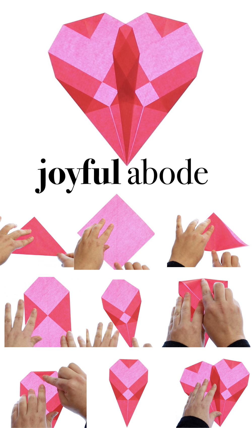 origami instructions for making waldorf paper window hearts