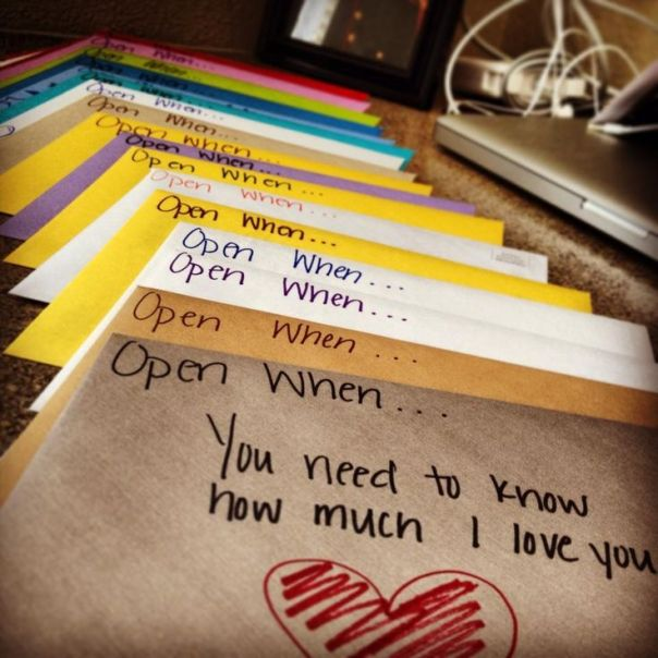 open when - envelopes for valentines's day with long distance relationship