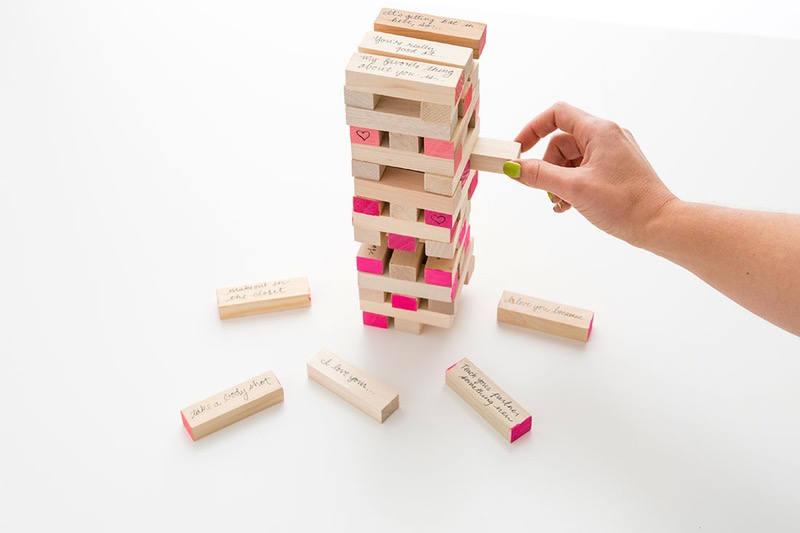 homemade valentine's day jenga game