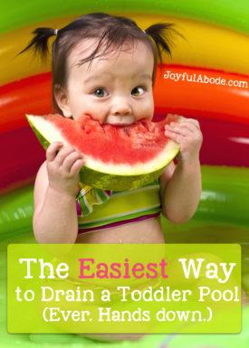 how to easily drain a toddler pool