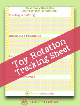 toy rotation tracking sheet